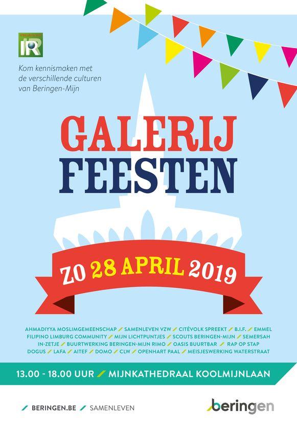 De affiche voor de Galerijfeesten.