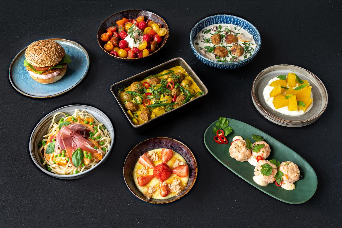 Ornelis brengt acht gerechten uit.