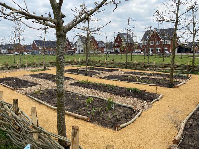 De kruidentuin in het park van nieuwbouwwijk Geerpark in Vlijmen.