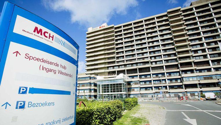 Het exterieur met het logo van het MCH Westeinde ziekenhuis in Den Haag waar een geval van de MERS bacterie is geconstateerd.