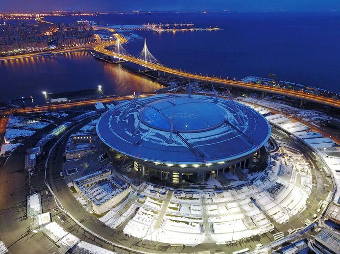 Het gloednieuwe Krestovsky-stadion van Zenit Sint-Petersburg.