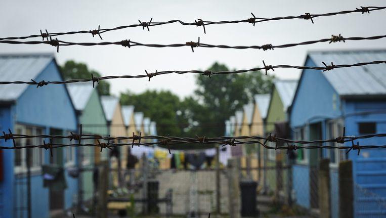 Een opvangcentrum voor migranten in Hongarije Beeld ap