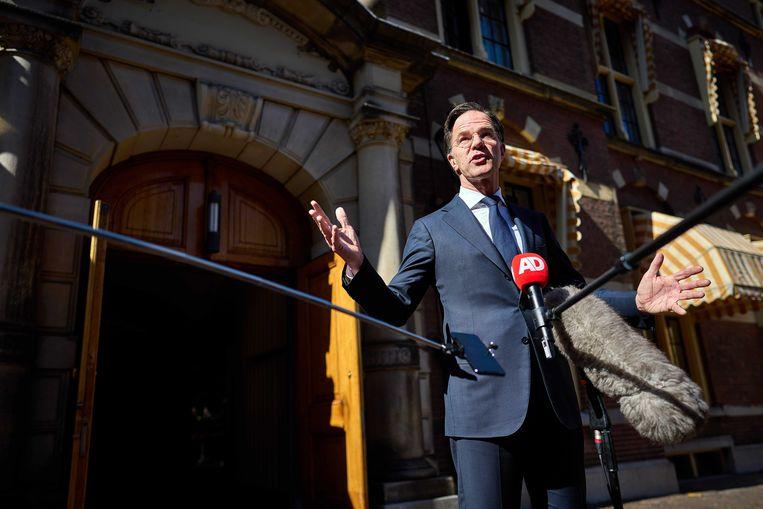 Demissionair minister-president Rutte maakte vrijdag bekend dat notulen van de ministerraad over de toeslagenaffaire openbaar worden.  Beeld ANP