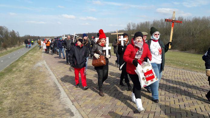 Archieffoto: Demonstratie van dierenactivisten bij Oostvaardersplassen.