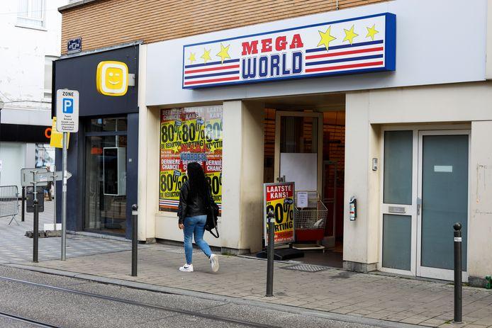 Een MegaWorld-winkel in Brussel.