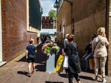 Verbouwing 'rommelige' entree Deventer centrum is vertraagd, maar bloemen fleuren de boel op