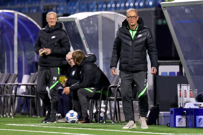 Jan Poortvliet tijdens het duel van FC Eindhoven met Jong Ajax.