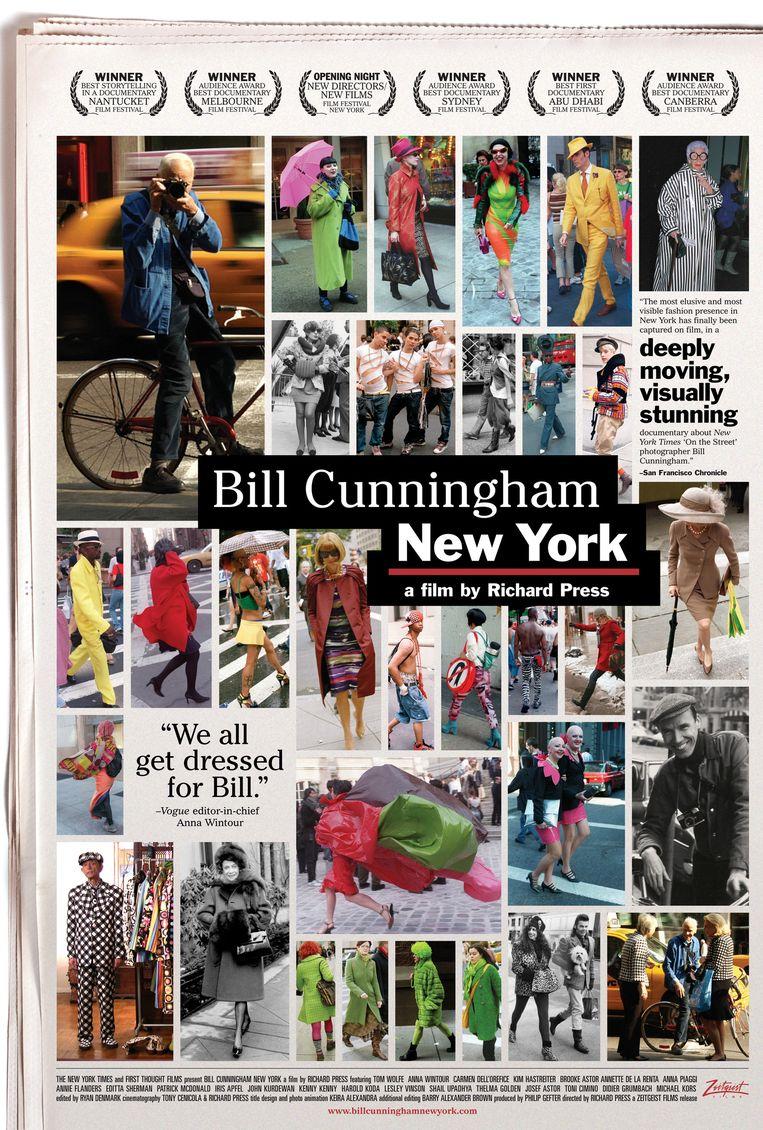 De poster van een film over het leven en werk van Cunningham. Beeld null