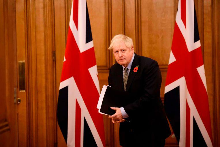 Johnson heeft de 'chatty rat' onder zijn ministers nog niet gevonden. Beeld AFP