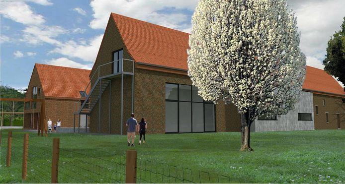 Een toekomstbeeld van Den Diepen Boomgaard in Grimbergen.