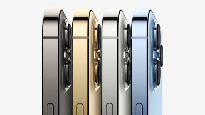 De iPhone 13 Pro komt in vier verschillende kleuren.