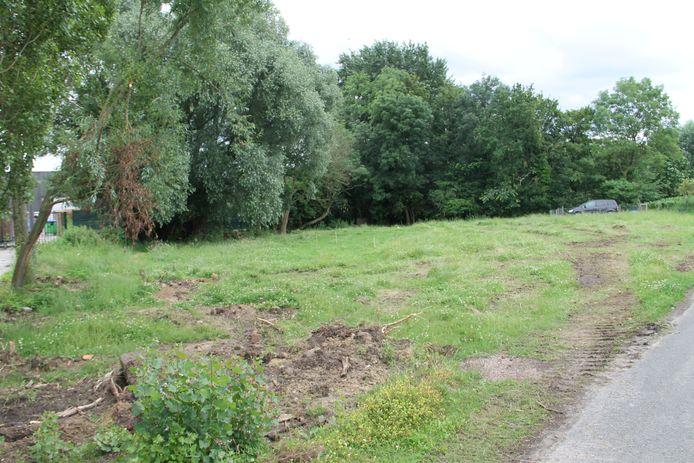 Op dit tweede deel van het terrein komt er straks een blotevoetenpad in Lendelede.