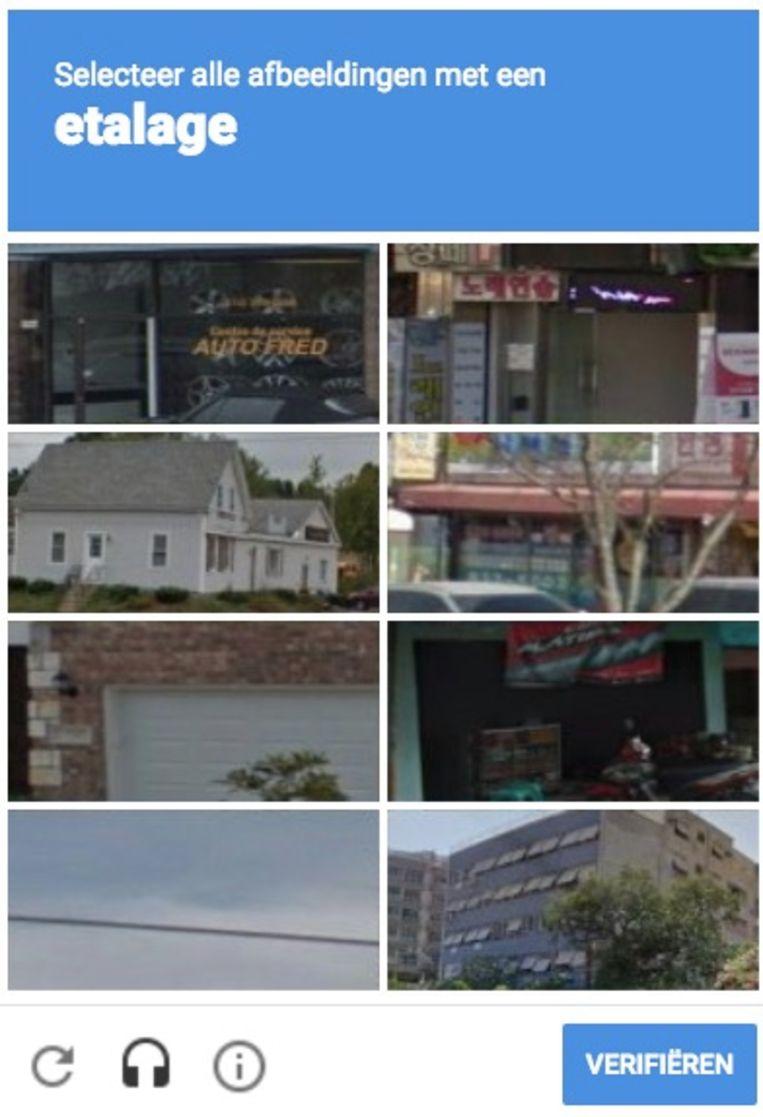 Selecteer alle afbeeldingen met een etalage. Beeld RV