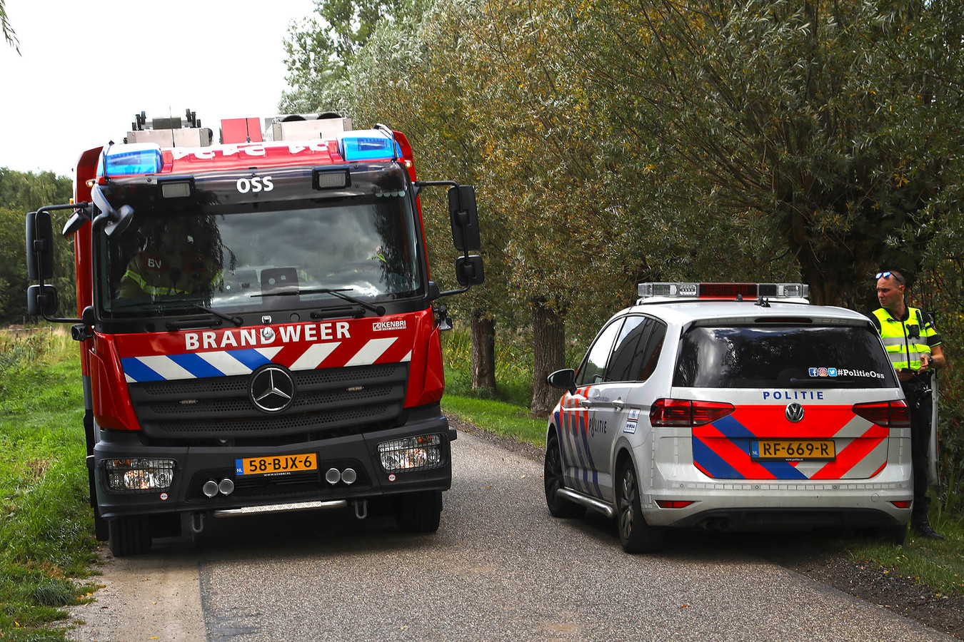Brand in Brandstraat in Oss.