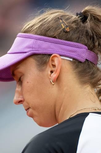 """Elise Mertens zucht nadat ze alweer in de derde ronde uitgeschakeld werd: """"Ik moet in alles een tikje sterker worden"""""""