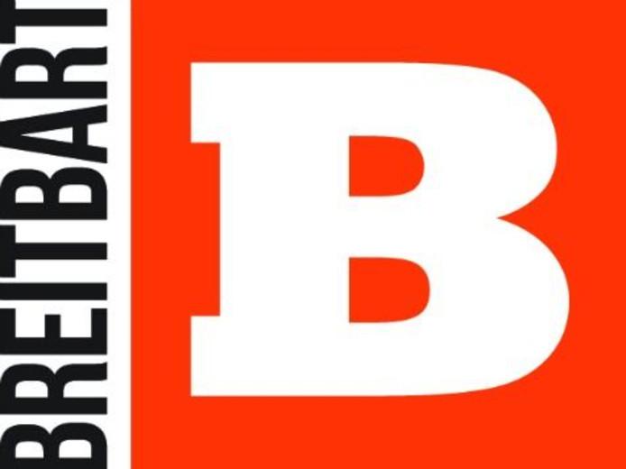 Het logo van nieuwssite Breitbart.