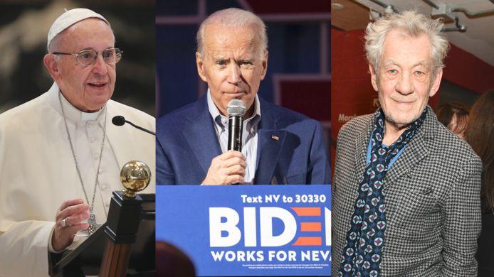 Paus Franciscus, Joe Biden en Ian McKellen