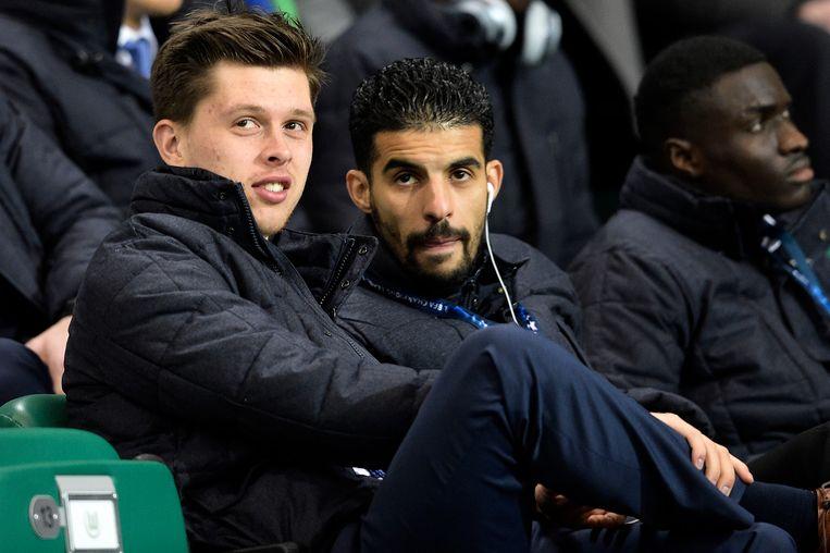 Boussoufa en Van der Bruggen keken toe vanuit de tribunes