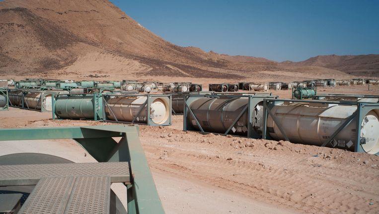 Opslagplaats van chemische wapens nabij het Libische Sirte. Beeld AP