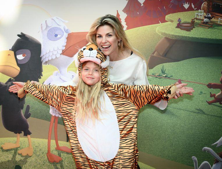 Mama Tanja Dexters is al een tijgerin en dochter Valentina nu ook.