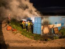 Container in brand in Nispen