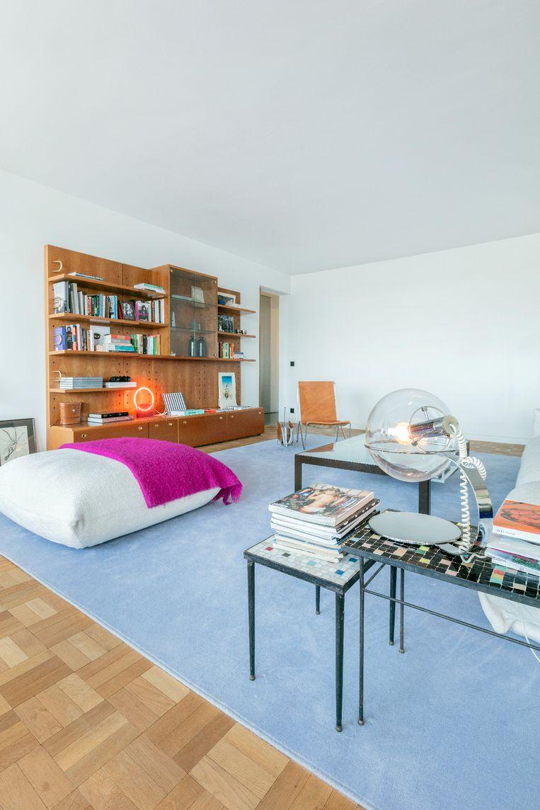 Veerle: 'Door deze look is het net een vijftig jaar oude vloer.' Beeld Marleen Sleeuwits