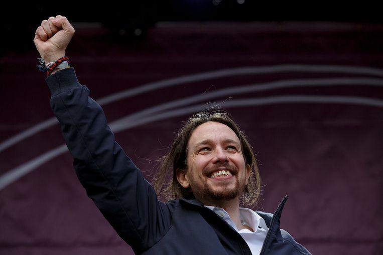 Pablo Iglesias, voorman van de Podemos-beweging.