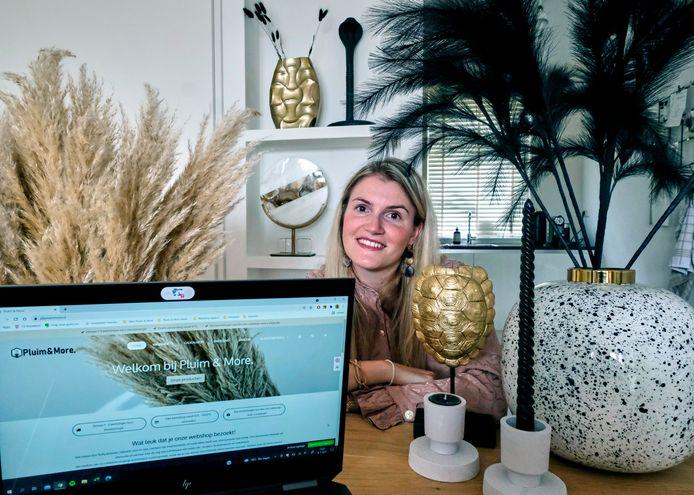 Andrea Verweij van Pluim & More. ,,Ik besloot kleinschalig te beginnen.''