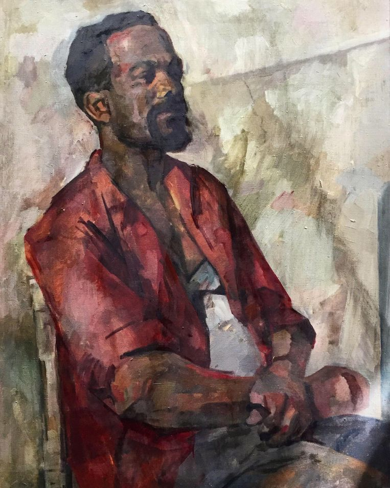 Portret van man in het rood. Een onbekend werk van Renée Stotijn. Beeld Renée Stotijn