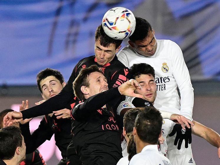 Real Madrid blijft thuis steken op gelijkspel tegen Sociedad