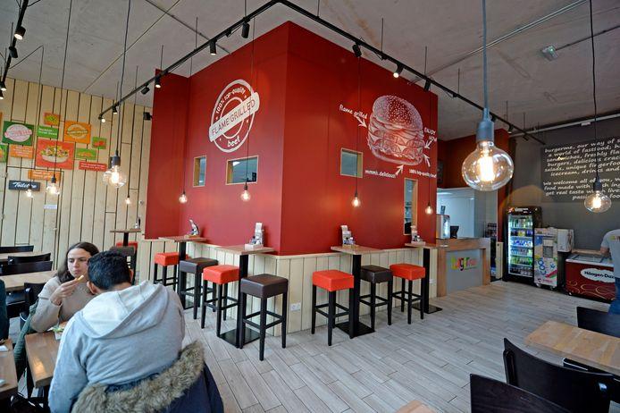 De vestiging van BurgerMe in Enschede, die dit najaar open ging.