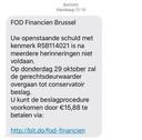 Een voorbeeld van het frauduleuze bericht dat de slachtoffers hadden ontvangen.