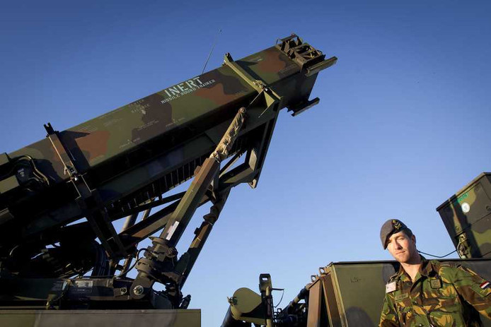 Een Patriot-luchtverdedigingssysteem van het Nederlandse leger.