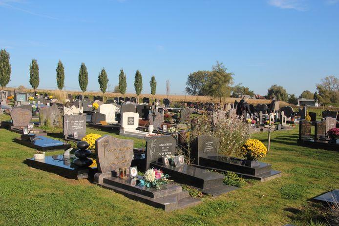 Illustratiebeeld van het kerkhof in Aaigem.