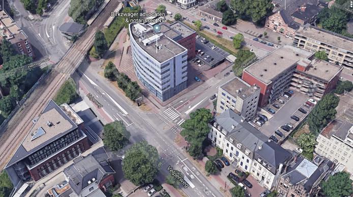De kruising van de Velperweg en de Arbeidstraat in Arnhem.