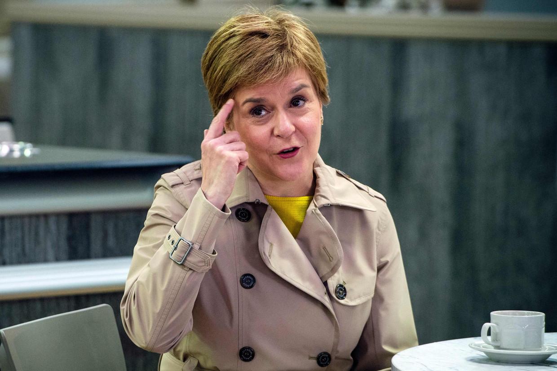 De Schotse eerste minister Nicola Sturgeon. Beeld AFP