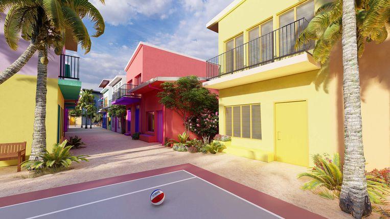 Drijvende stad bij de Maldiven. Beeld Waterstudio.nl