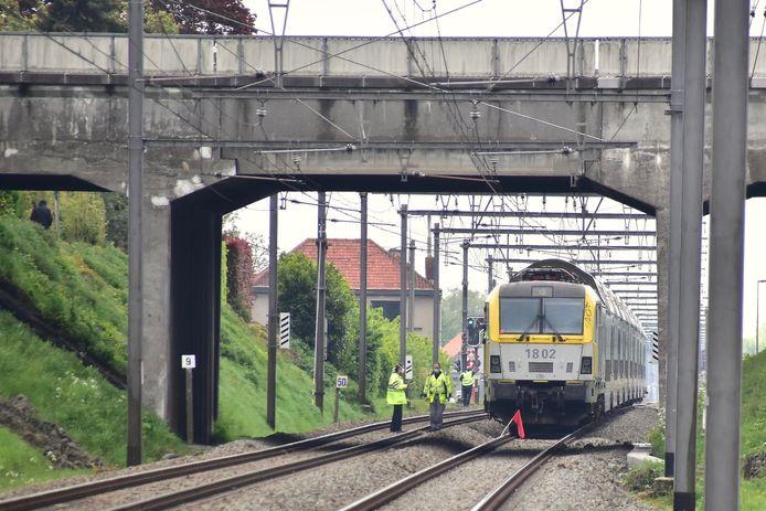 De trein kwam op het grondgebied van Lendelede tot stilstand.