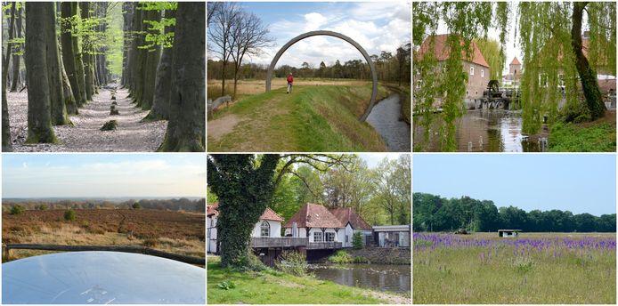 Enkele plekken waar de wandelroutes de komende acht weken langs leiden.