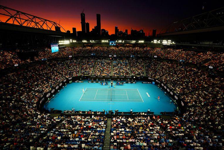 Een van de kwartfinales van de Australian Open in januari.  Beeld EPA