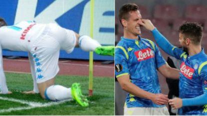 De humor van Mertens: bal onder shirt niet eerste viering die tongen losmaakt