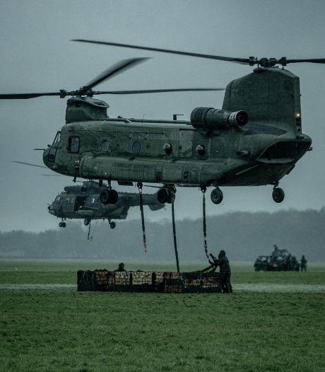 Luchtmacht oefent met zware transportheli's in luchtruim rond Arnhem