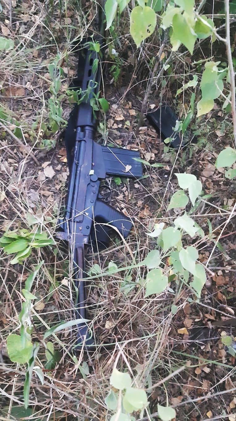Een van de gevonden wapens. Beeld EPA