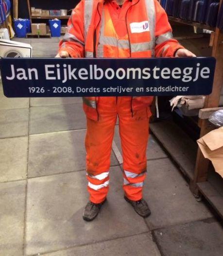 Stadsdichter Jan Eijkelboom krijgt eigen steeg