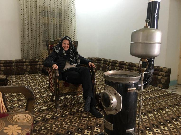 Van Es na afloop van een interview in Mansoura, Syrië. Beeld null