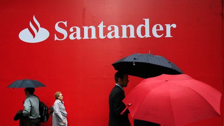 Een kantoor van Banco Santander in New York. Beeld AP
