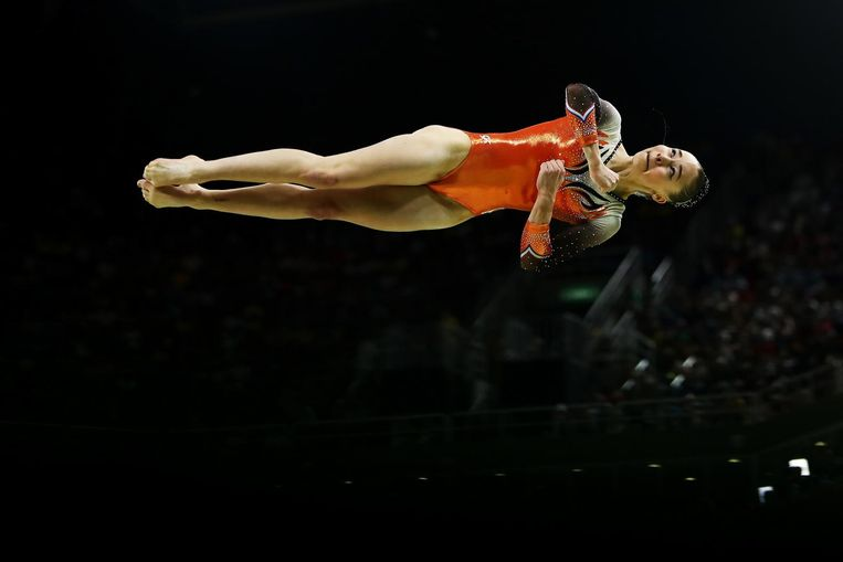 Eythora Thorsdottir in actie tijdens de teamfinale. Beeld null
