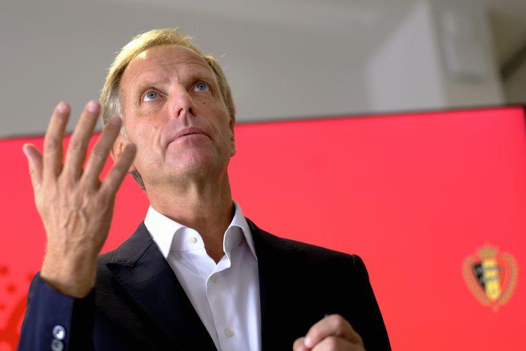 Peter Bossaert CEO van de Belgische Voetbalbond. Beeld BELGA
