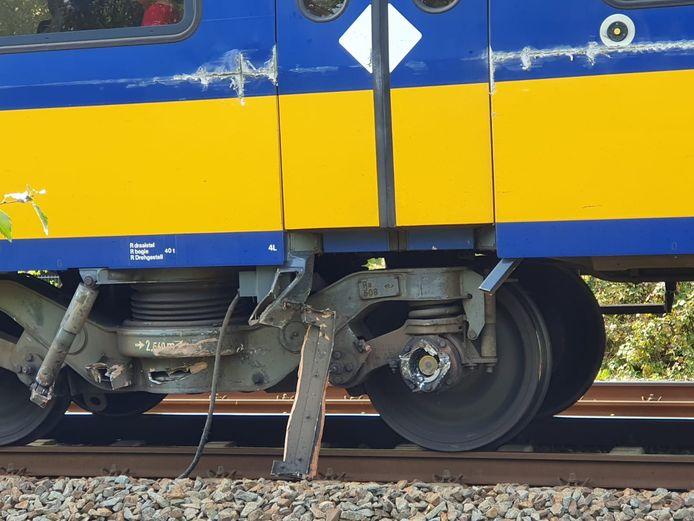 Beschadiging aan de trein.