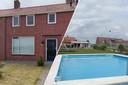 Huis met groot zwembad in Oud-Vossemeer.